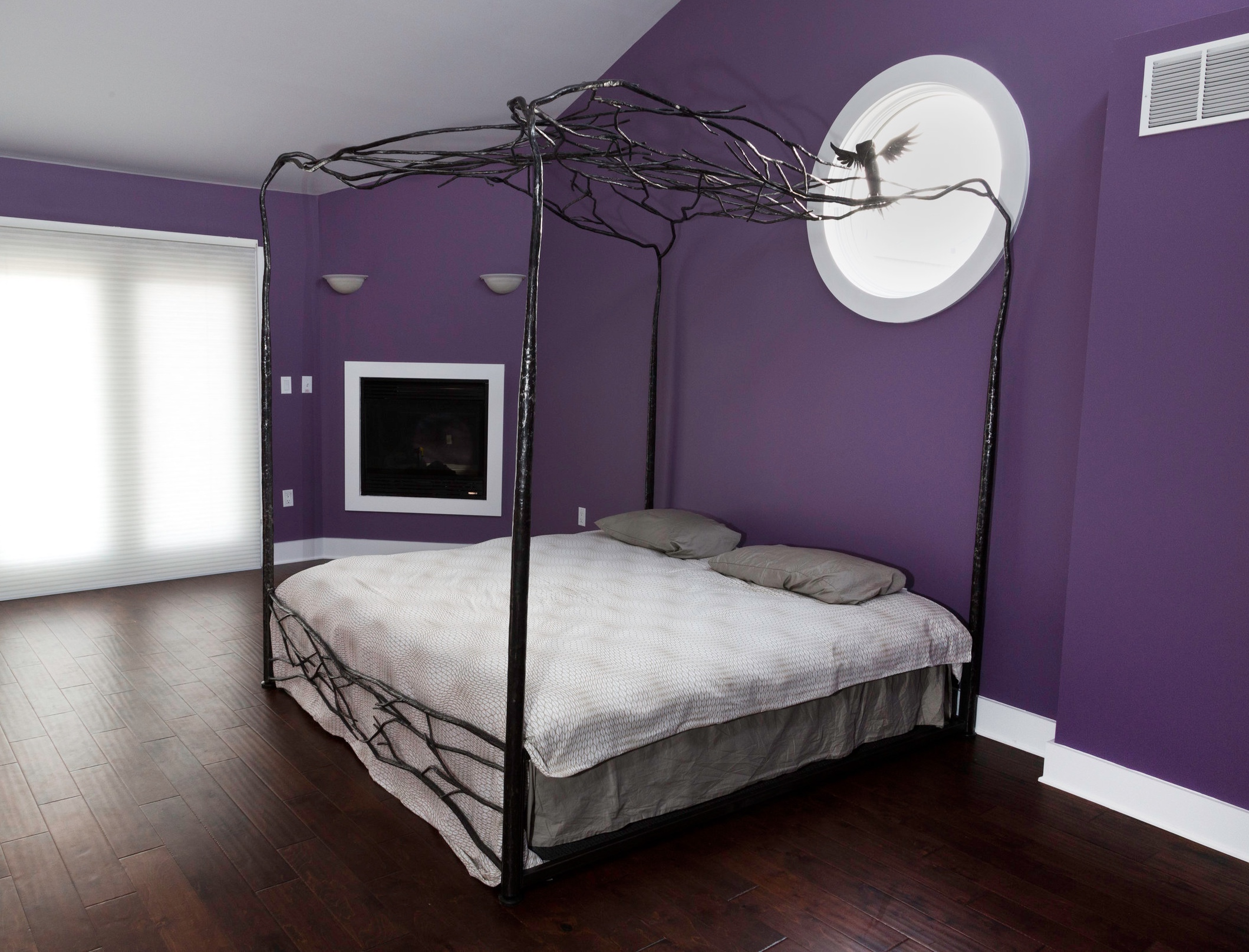 FORGED BED FRAME WITH CANOPY - private residence, Philadelphia PA