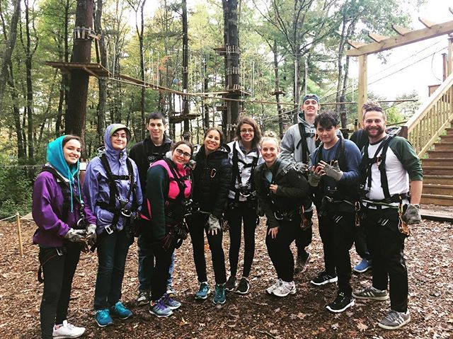 Climbing to the top is never easy, but we believe it's within reach!  #semesteroff #climb #treetopcanton #fun #adventure #gapyear #happiness #live #tree_lovers #fallfun #challengeaccepted✔ #highinthesky