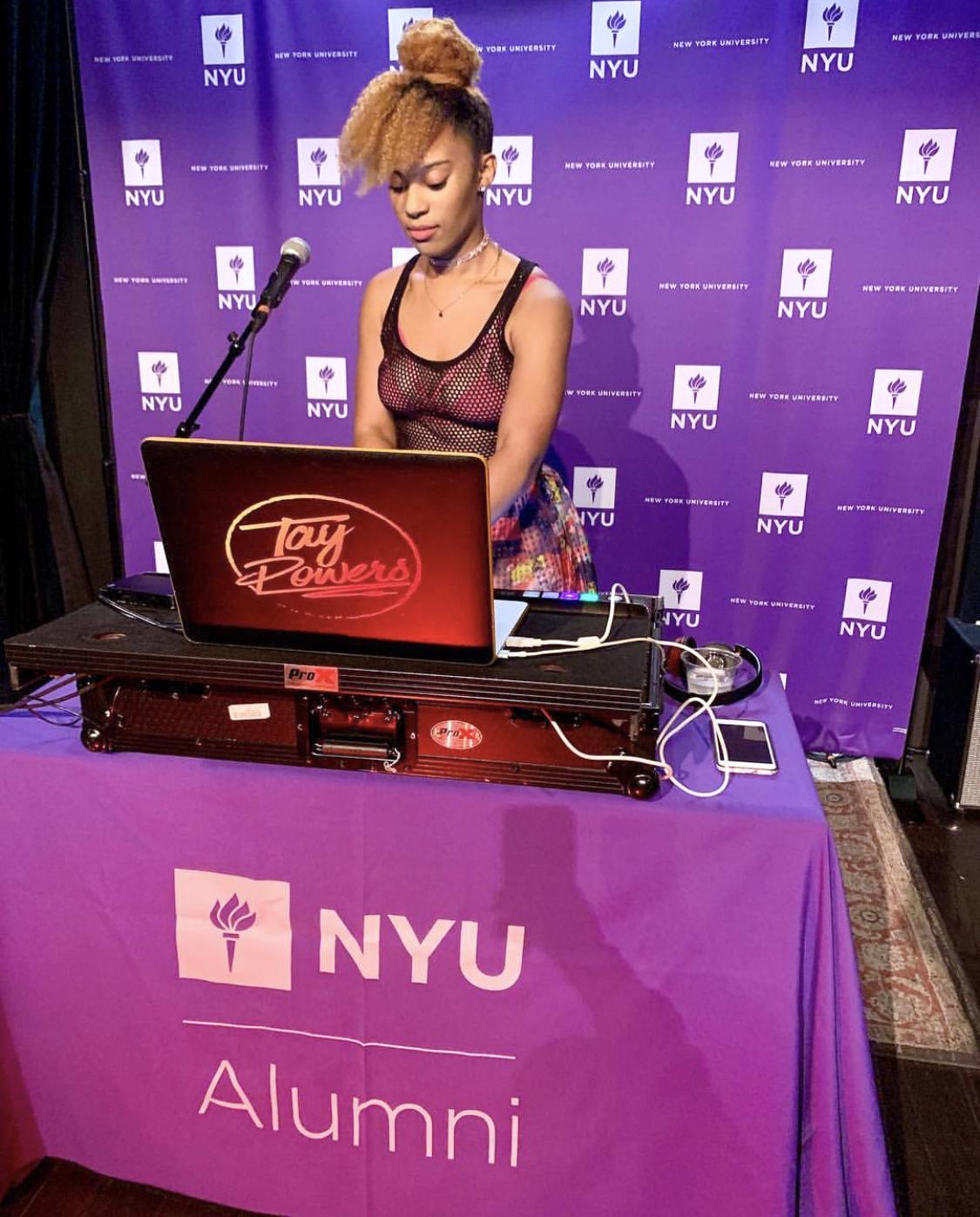 Unique Print NY - Large Format Printing - NYU Alumni SXSW Backdrop Banner, Table Throw.jpg