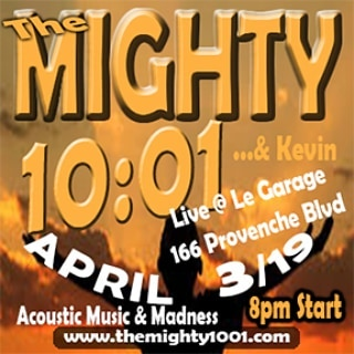 SHOW ANNOUNCEMENT!  Wednesday April 3rd The Mighty 10:01...& Kevin hit the stage of @legaragewpg at 8pm.  #acoustic #goodvibes #covers #original #madness #music #manitobamusic #winnipegmusic #stboniface #poutineandchill #congo #bongo #chimes