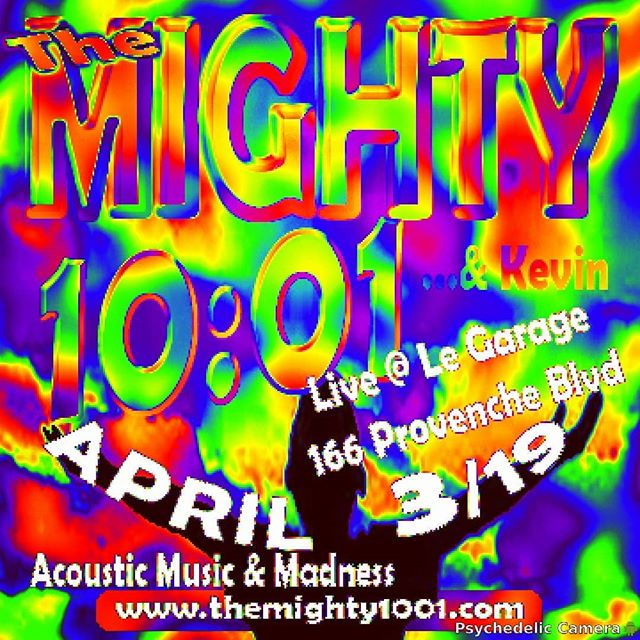 TONIGHT @legaragewpg 8pm.  #themighty1001...& Kevin invade the stage at 166 provenche for 2 sets of #garden #variety #acoustic #madness
