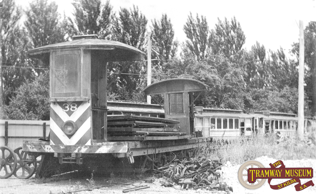 For major rail surfacing jobs that the couldn't be done with the Scrubber Car, a Woods Gilbert Rail Grinder was imported in 1915 from the UK. Fitted with grinding wheels at one end to profile the rail running surface, this machine was rarely seen by the public as it was used mostly at night. Photo: MTT.
