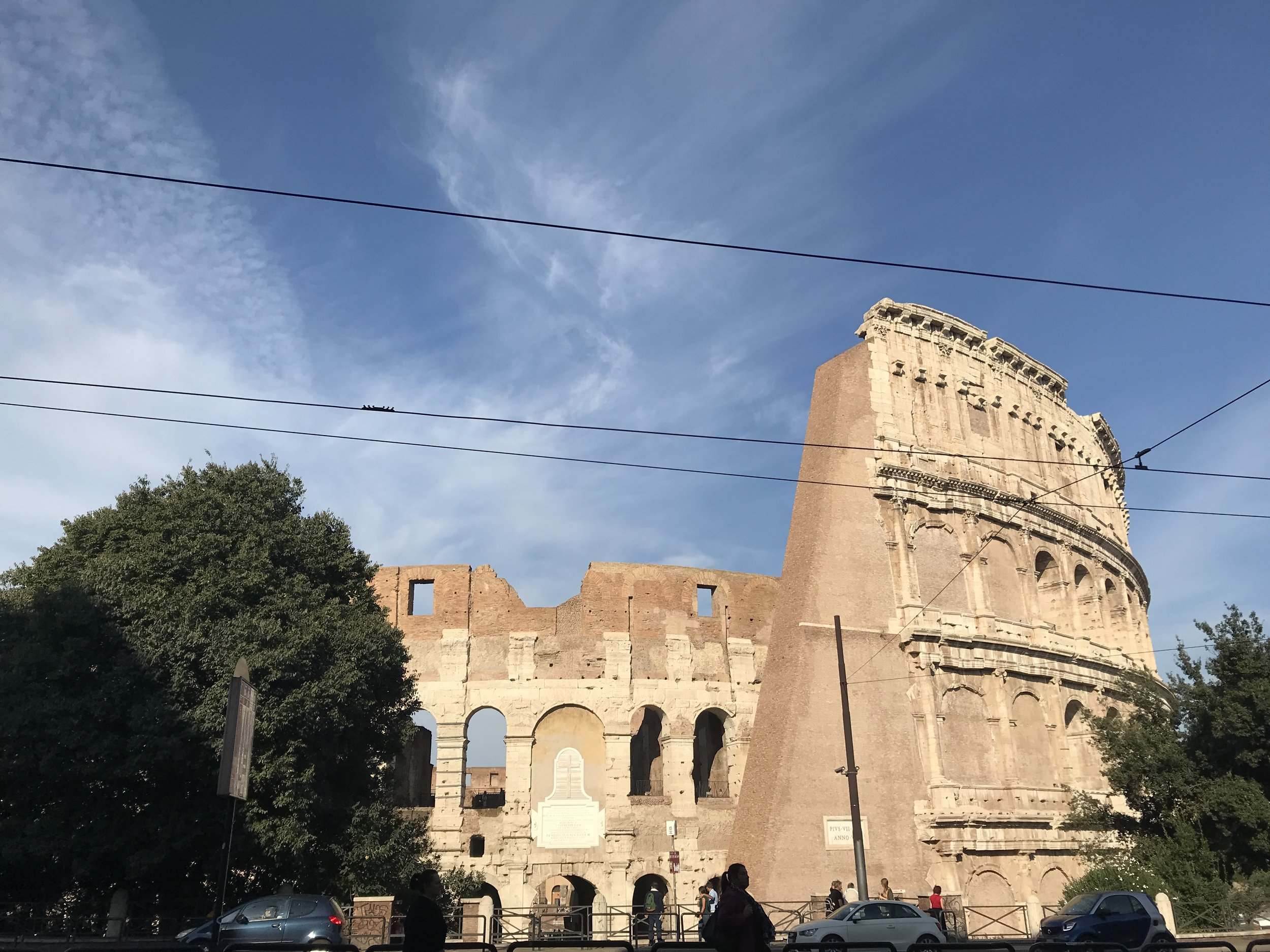 The Colosseum at the end of my street.