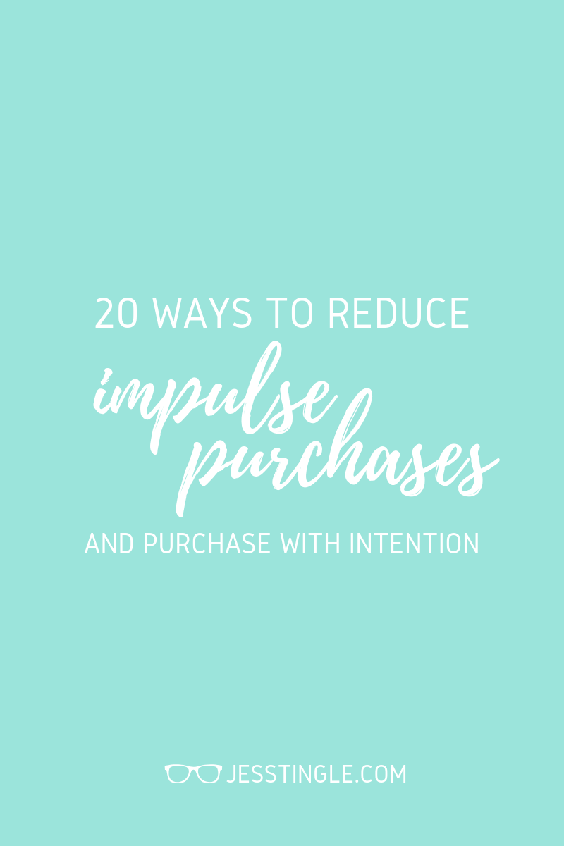 how to reduce impulse purchases