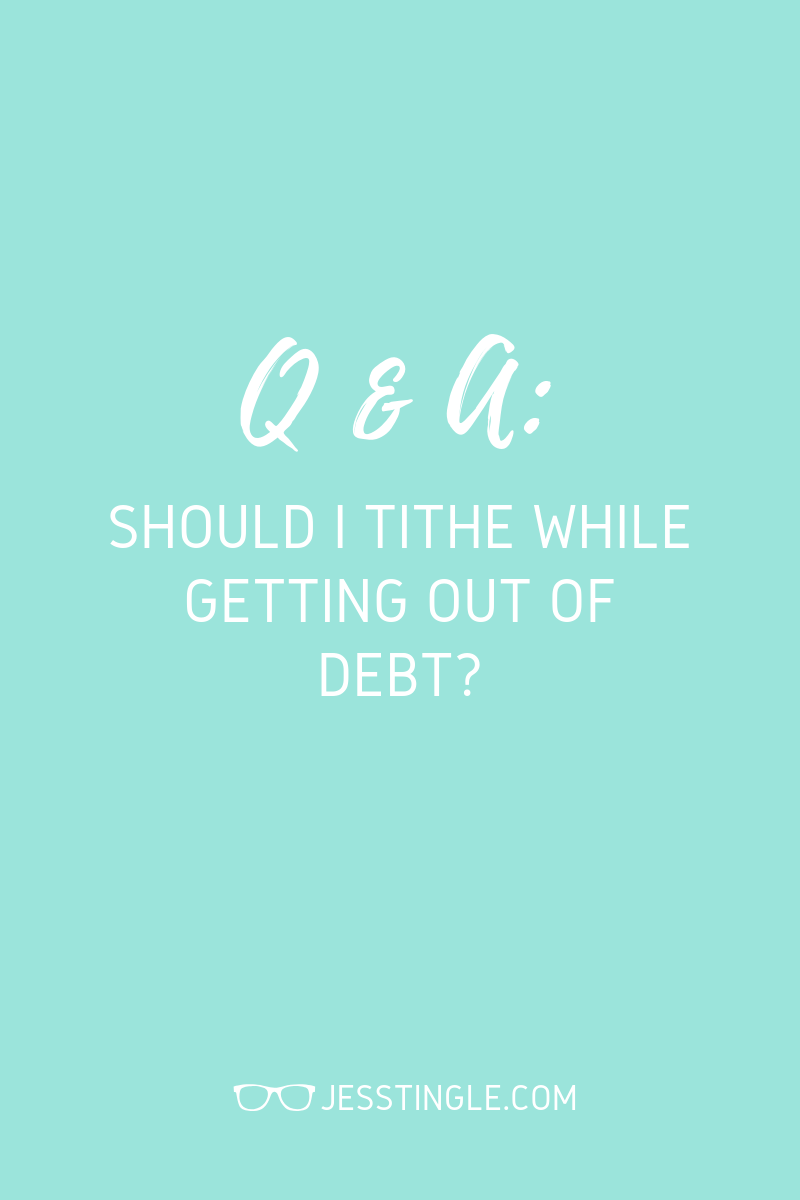 Tithing During Debt Payoff