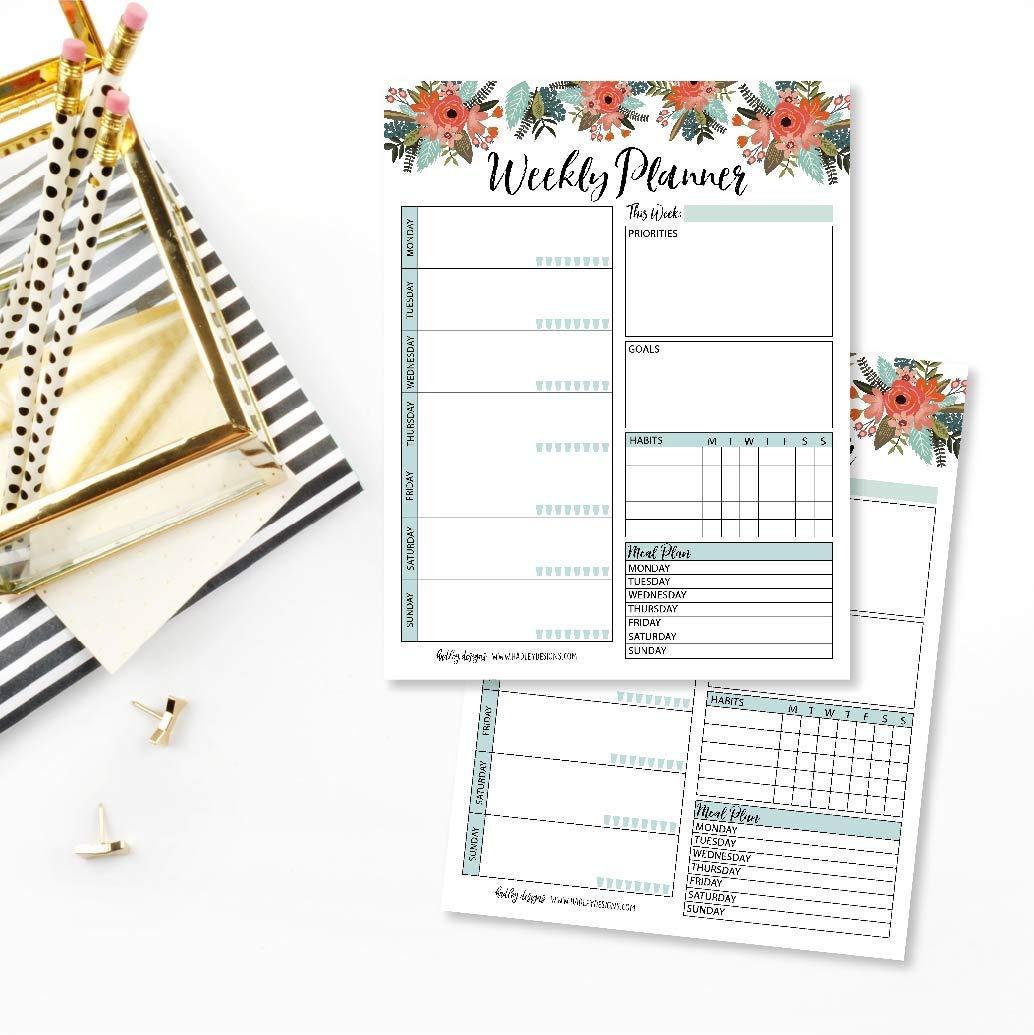 weekly planner notepad