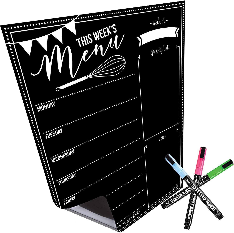 Magnetic Dry Erase Menu Board