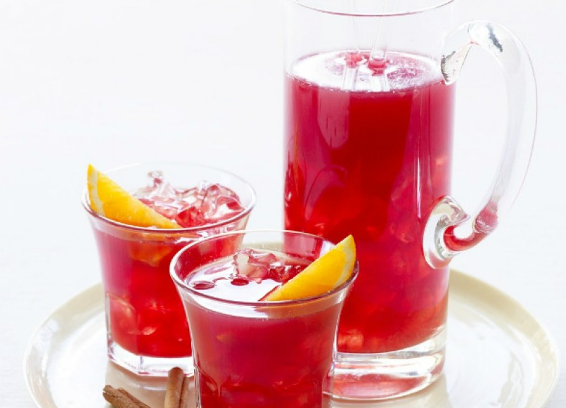 Spiced Cranberry Orange Punch -