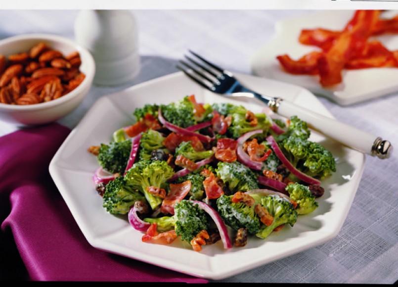 Broccoli and Bacon Salad -