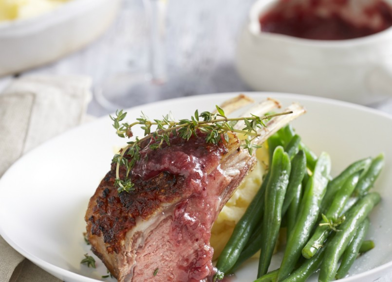 Tomato and Thyme Crusted Rack of Lamb -