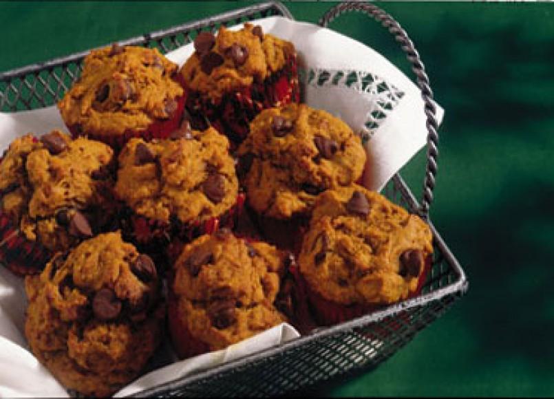 Pumpkin Choc-Chip Muffins -