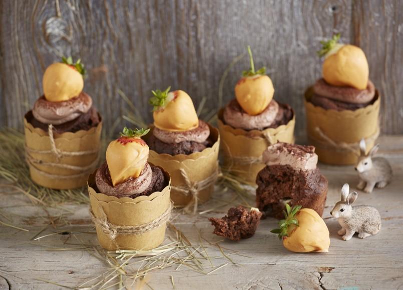 Chocolate Carrot Cupcakes -