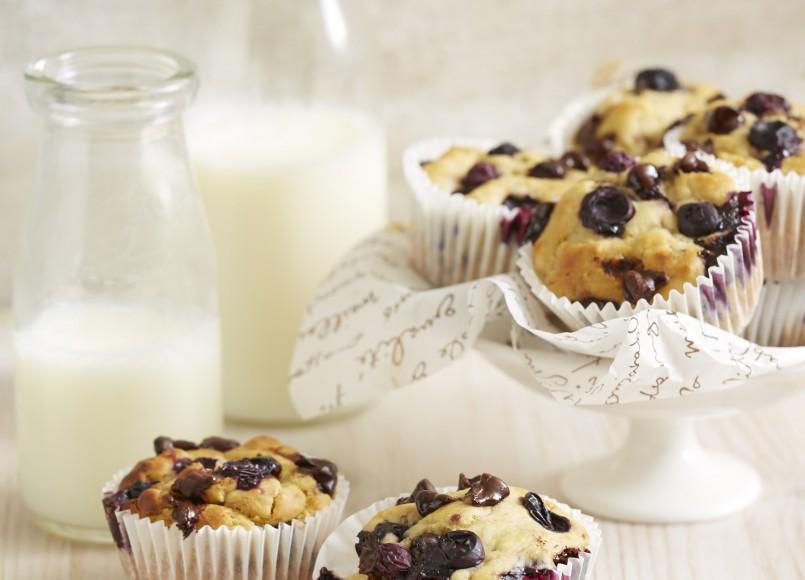 Banana Blueberry & Choc Chip Muffins -