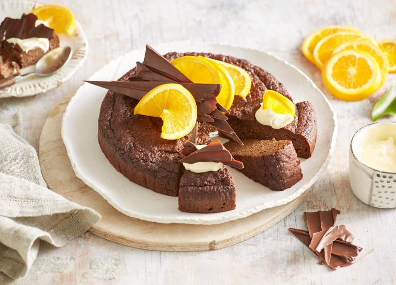 Fourless Chocolate, Almond & Orange Cake -