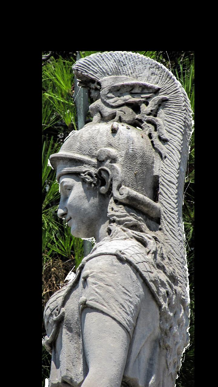 Athena, the Greek Goddess of wisdom and war.