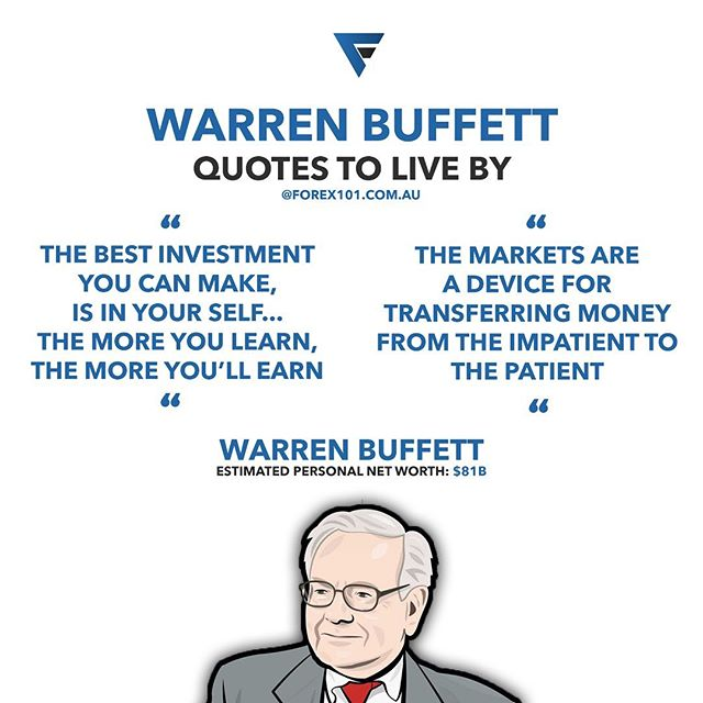 Warren Buffet quotes to live by 💰 Invest in your self and be patient 💱 #Forex101