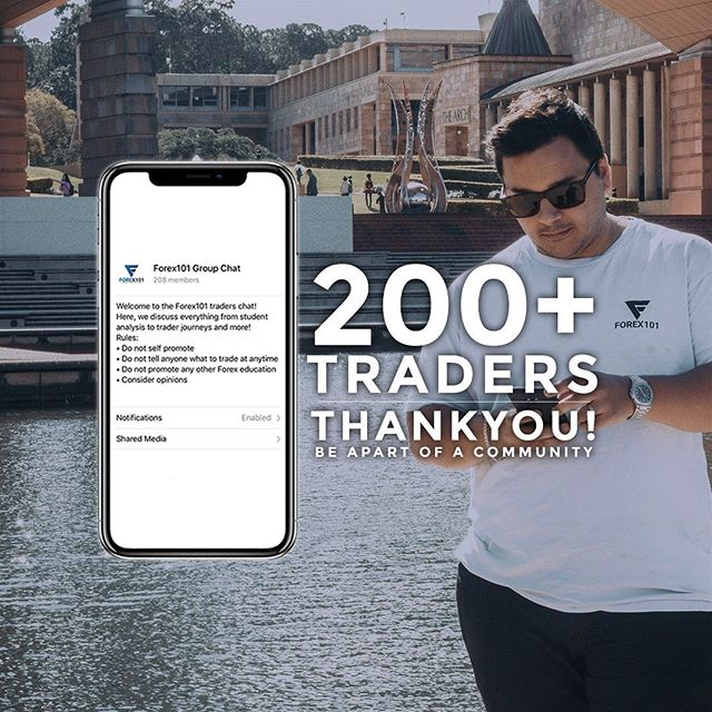 200+ members now in our traders chatroom! 🎉 Thank you to everybody who is apart of our community! If you're not already, feel free to join here → www.forex101.com.au/learn | #Forex101 #Forex #Australia