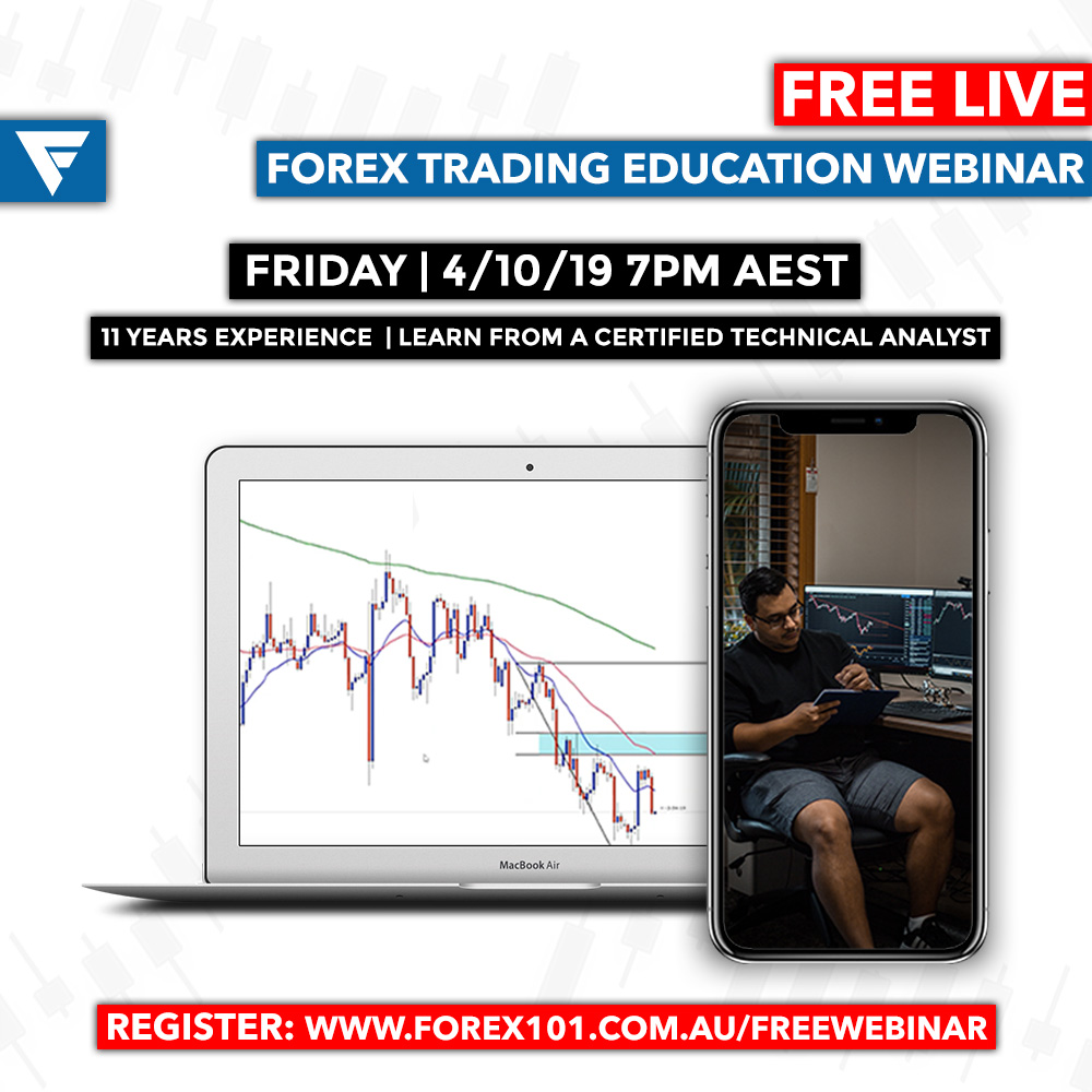 FREE FOREX TRADING EDUCATIONAL WEBINAR - Been wanting to see what the hype of Forex is all about? Want a taste of our membership? Have a few questions?We're hosting a FREE Forex Education Webinar for anybody wanting an insight into the world of Forex Trading and a Certified Technical Analyst with over 11 years experienced that has amassed millions trading the $5.7 Trillion Dollar a day market.Want In? Simply fill in a few details below.We'll email you the link 15 minutes before the webinar starts at 7pm AEST on the 4/10/19!