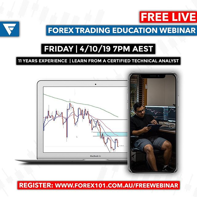 Been wanting to see what the hype of Forex is all about? Want a taste of our membership? Have a few questions?  We're hosting a FREE Forex Education Webinar for anybody wanting an insight into the world of Forex Trading and a Certified Technical Analyst with over 11 years experienced that has amassed millions trading the $5.7 Trillion Dollar a day market.  Visit forex101.com.au/freewebinar to register! Don't miss it! 💱💰 #Forex101 #Forex