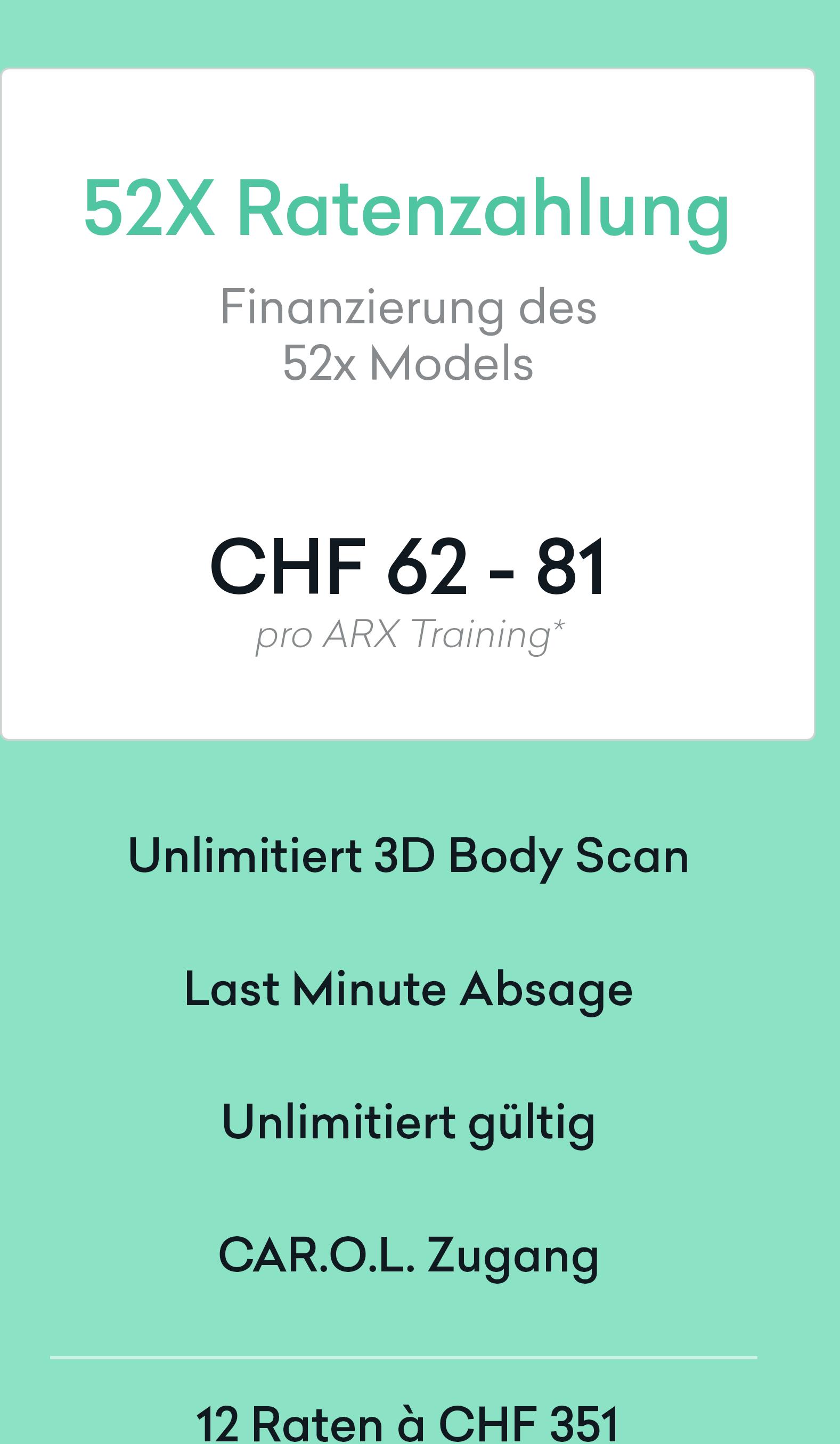 52er Paket - Ratenzahlung