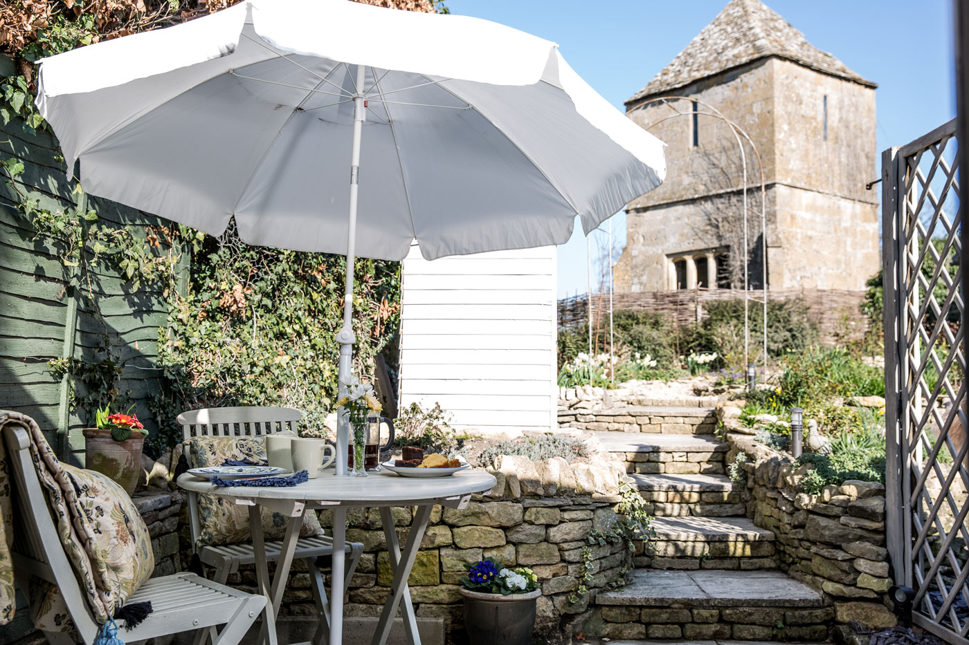 Garden - Outside, The Nook has its own private terrace with table and chairs and access to the shared garden where there is another larger table and chairs with BBQ.