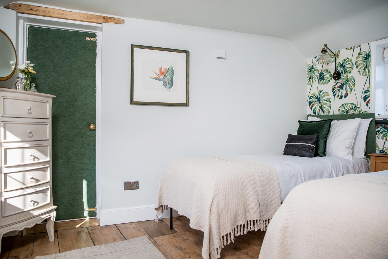 Botanical themed second bedroom