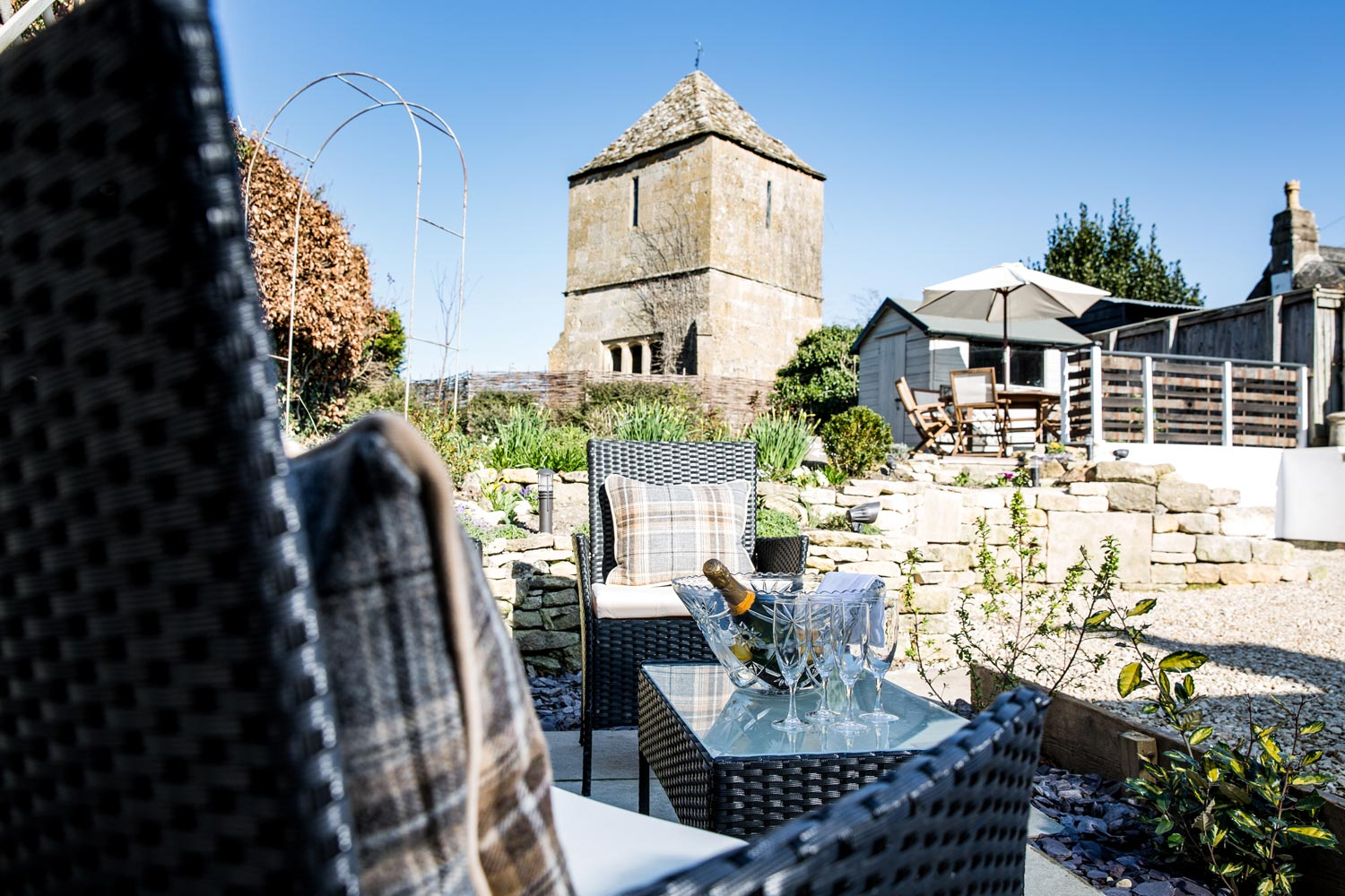 Relax in the glow of the Gretton Church Tower