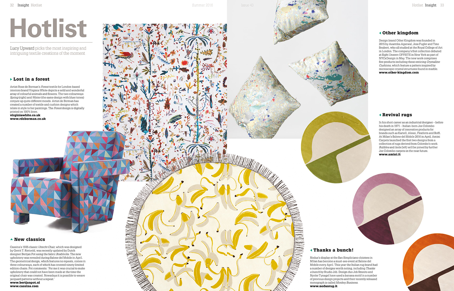 Hotlist (UK), Summer 2016. Forest Fabric in Spring