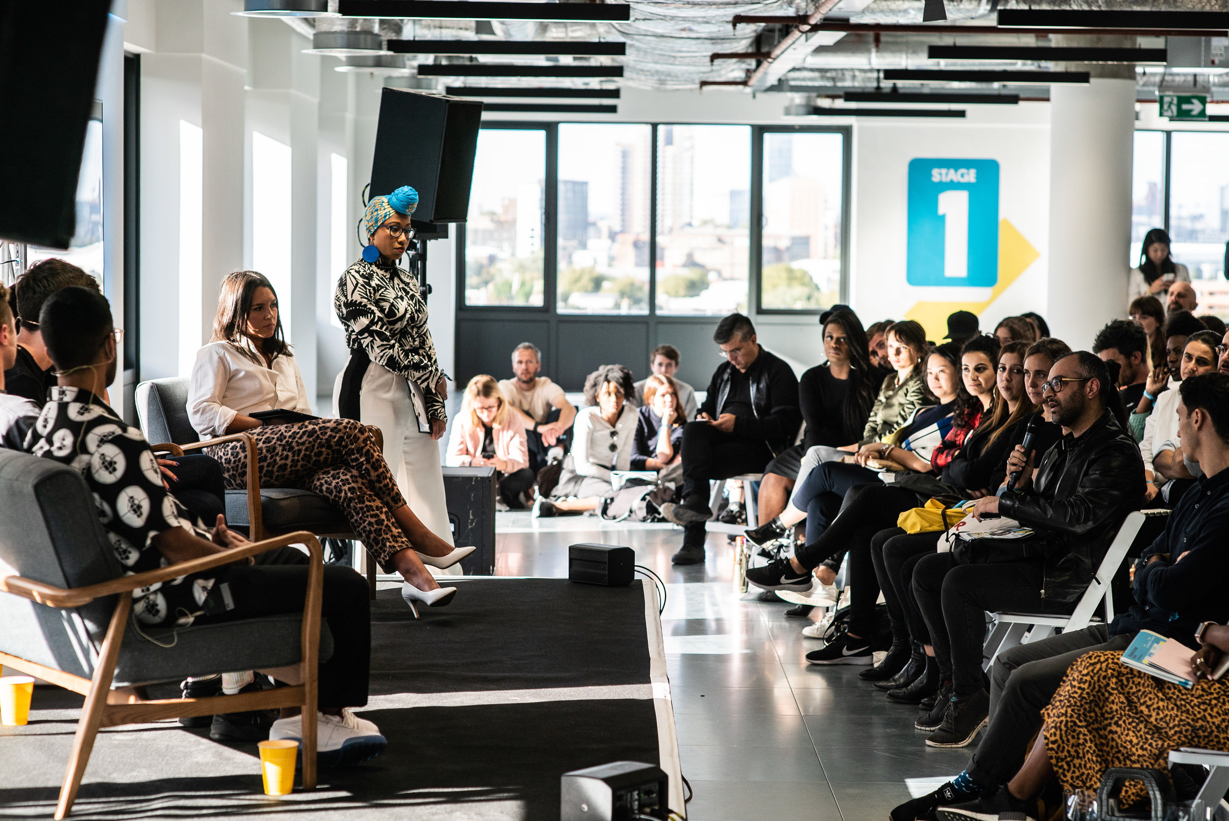 Courier Live brought hundreds of entrepreneurs and start-ups into Trilogy Real Estate's new east London creative campus Republic (Image credit: Courier Media)