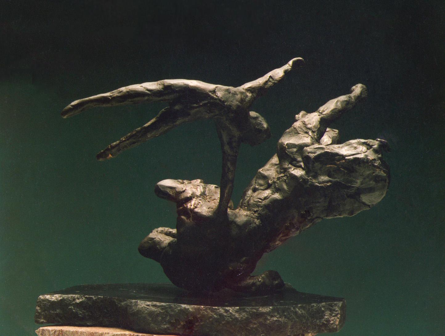 1983  horse and rider ll  bronze 23cm high x 13cm deep x 23cm wide