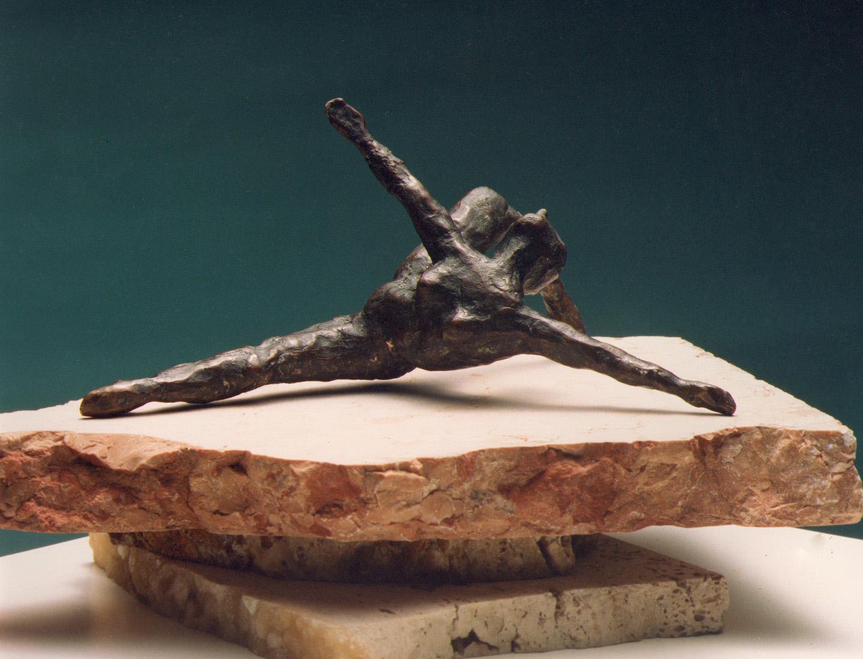 1983  Dancer  bronze 17 cm long x 7 cm x 10 cm high