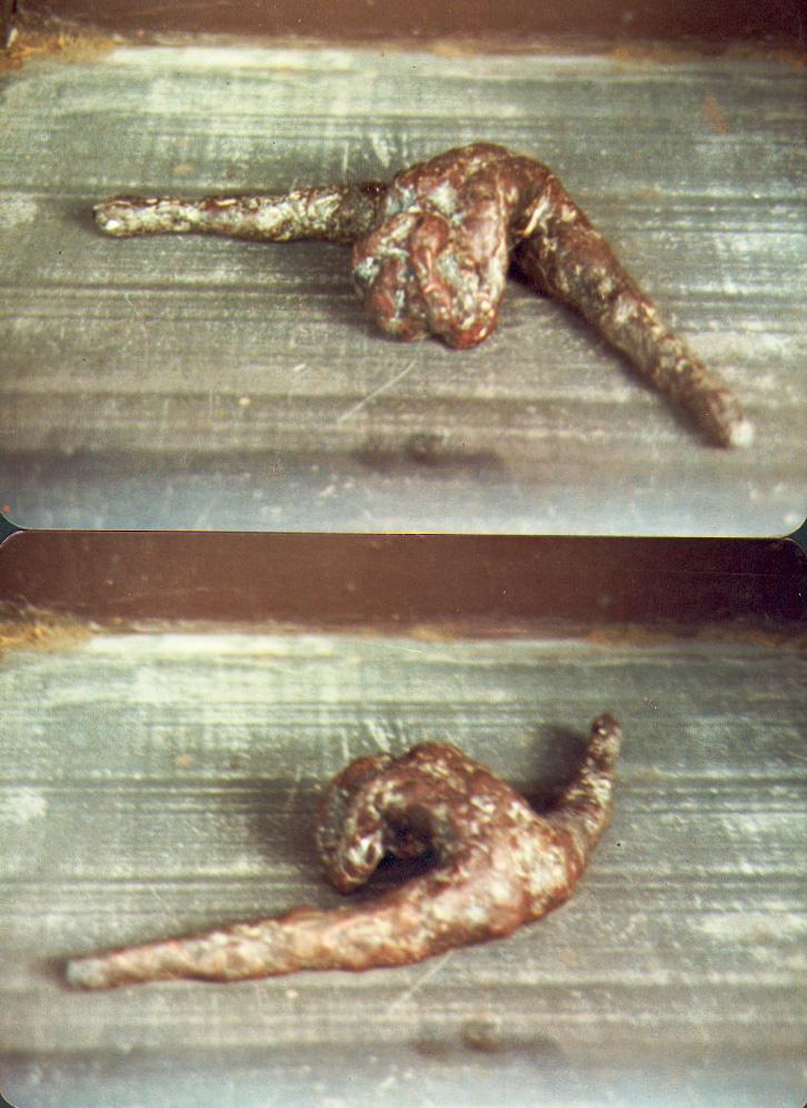 1982  dancer 1  bronze 17 cm long 2 cm high x 10 cm deep