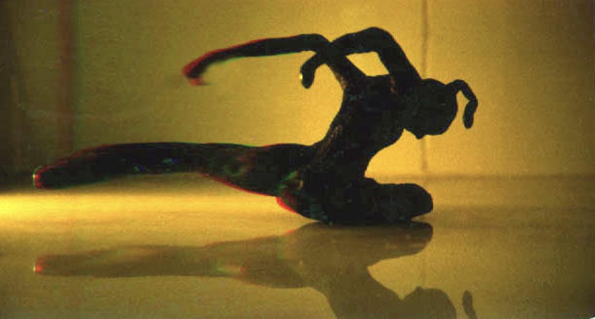 1983  Dancer 4  Bronze 10 cm deep x 10 cm high x 9 cm wide