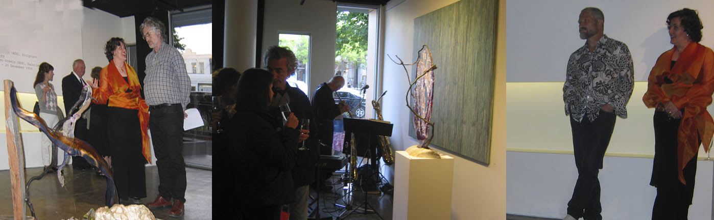 exhibition opening with beautiful speech by the wonderful marble carver and artist   Peter Schipperheyn