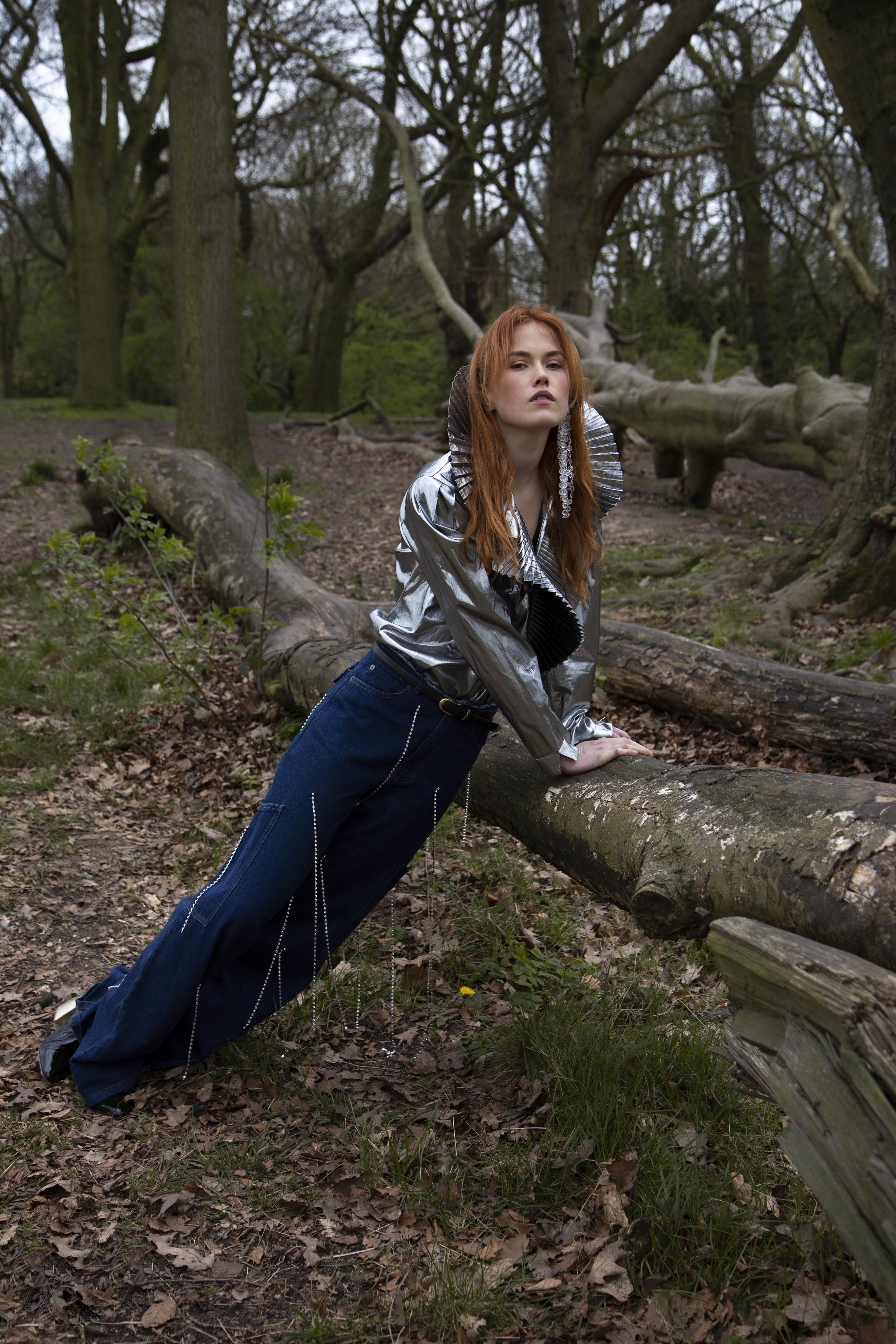 Photography by Kerttu Kukk  Styling by In Woo  Model Blue Sumrie from Titanium  Creative Direction by Megan Elman