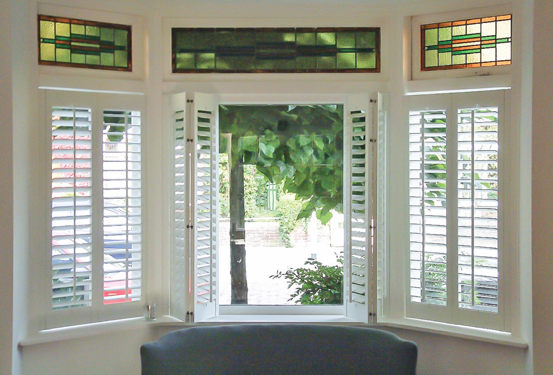 Bay Window Shutters Plantation Shutters By The Beautiful