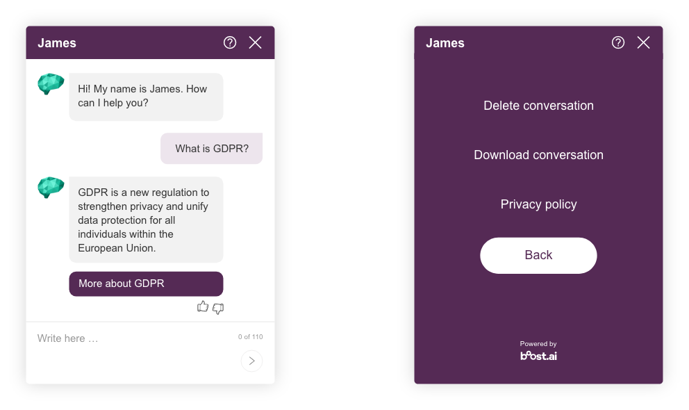 Ensure that your chatbot is GDPR compliant