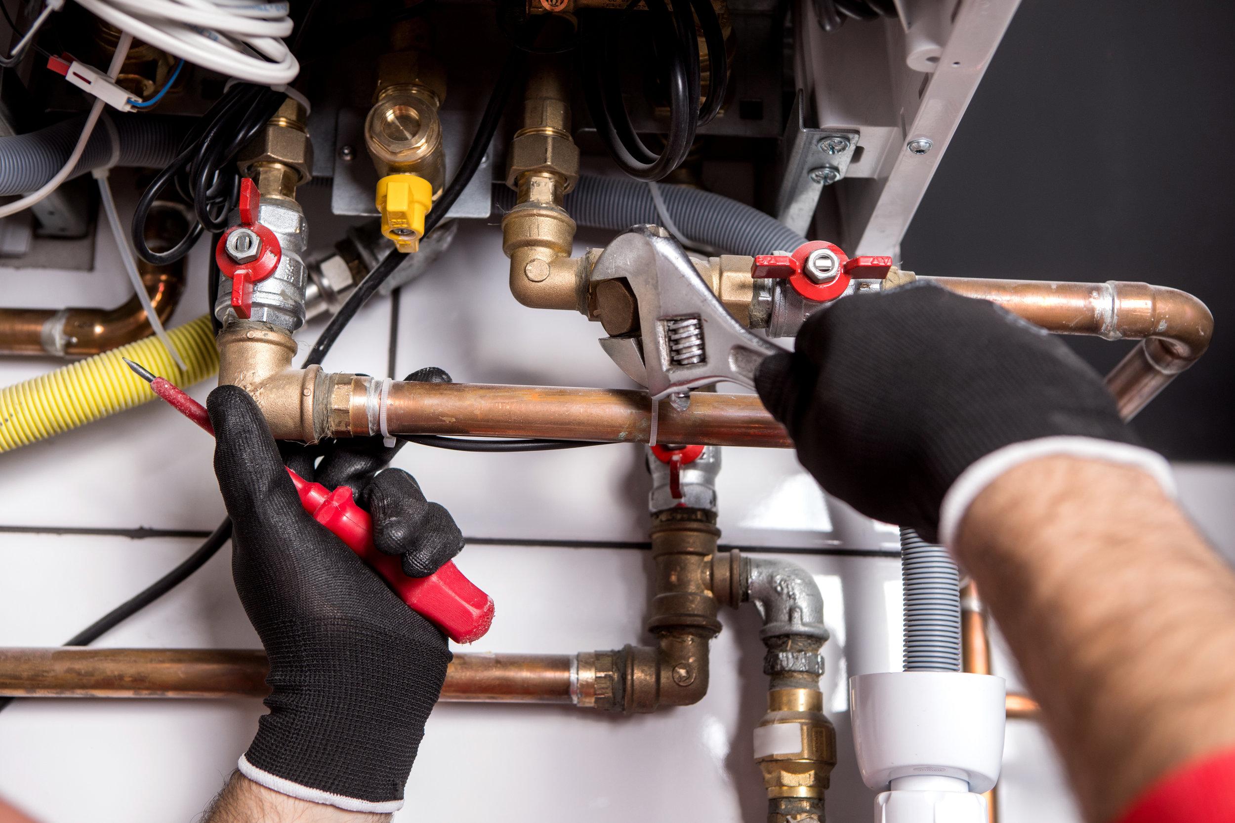 PLUMBING SERVICES - • Water Heater Repair & Installation• Drain Cleaning & Repair• Plumbing Remodeling• Plumbing Fixture Repair & Replacement• Plumbing Code Violations• Leak Detection & Repair• Sewer Services & Repair• Sump & Well Pumps• Water Treatment• Light Commercial Plumbing
