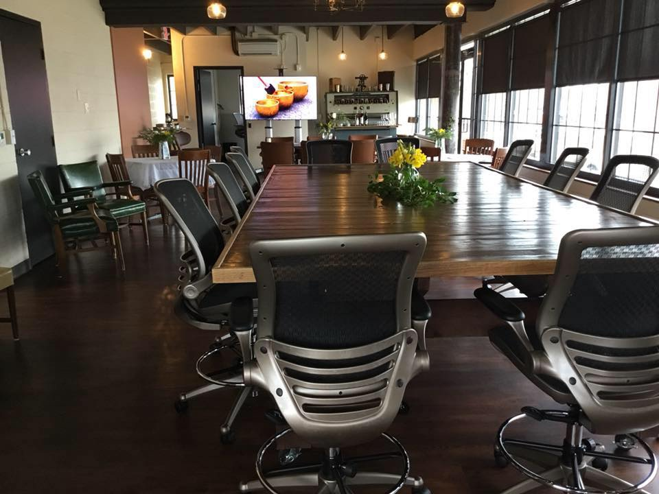 The JDQ Building Tenants and the general public can rent The JDQ Conference Room, which is the perfect space in which to hold everything from business meetings and training seminars to bridal and baby showers!