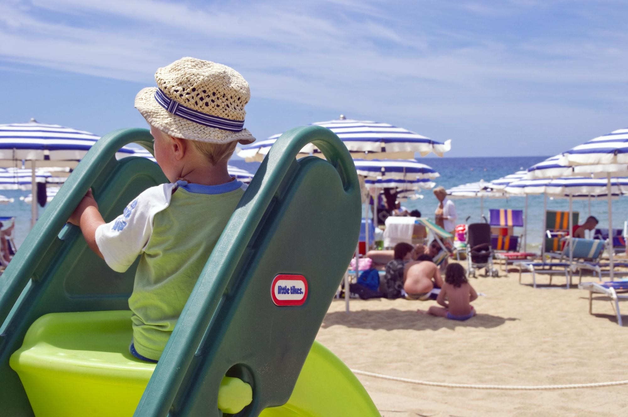 La spiaggia del Residence Baia del Sole