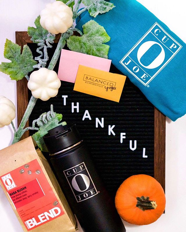 We're feeling festive and thankful for our amazing community in Clintonville! We've teamed up with two other local businesses to show just how thankful we are. One lucky winner will be chosen to win all these goodies! ⭐One month of unlimited yoga @balancedyogastudios Clintonville location ⭐$25 gift card to @onesixfivejewelry ⭐A pound of @cupojoe coffee beans, a t-shirt and hydroflask travel mug TO ENTER: follow @cupo.joe , @balancedyogastudios and @onesixfivejewelry and tag three people you're thankful for this season! Winner will be chosen and notified on Tuesday 11/20