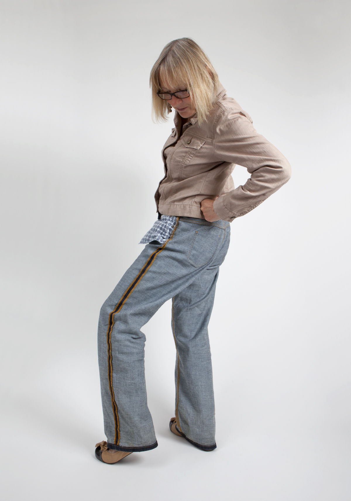 Kate modelling for  Trouser Town