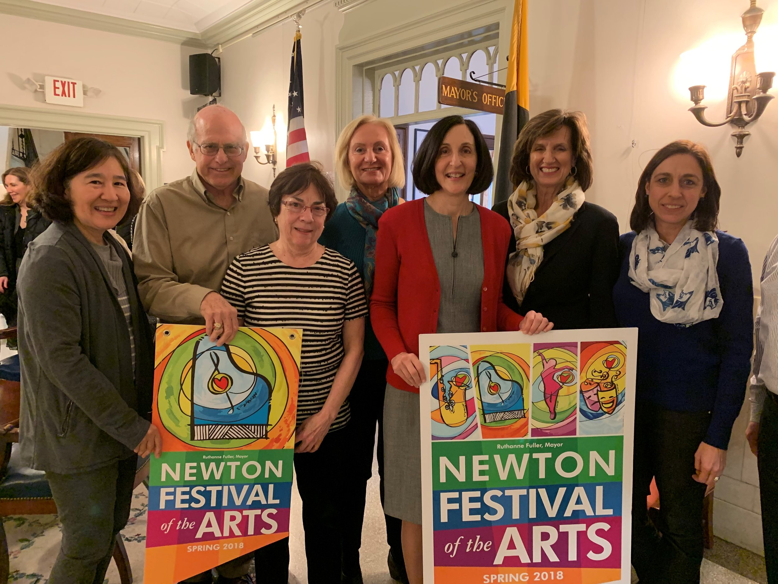 The Mayor's Committee on Community Design for Arts and Culture (CDAC) showcases the Newton Festival of the Arts  Photo Credit: Mayors March 26 2019 Update