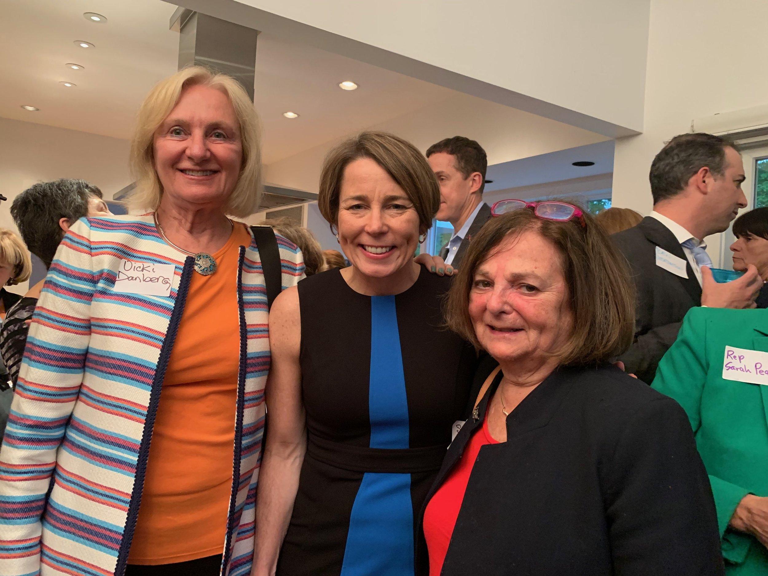 Vicki, Maura Healey and Councilor Susan Albright