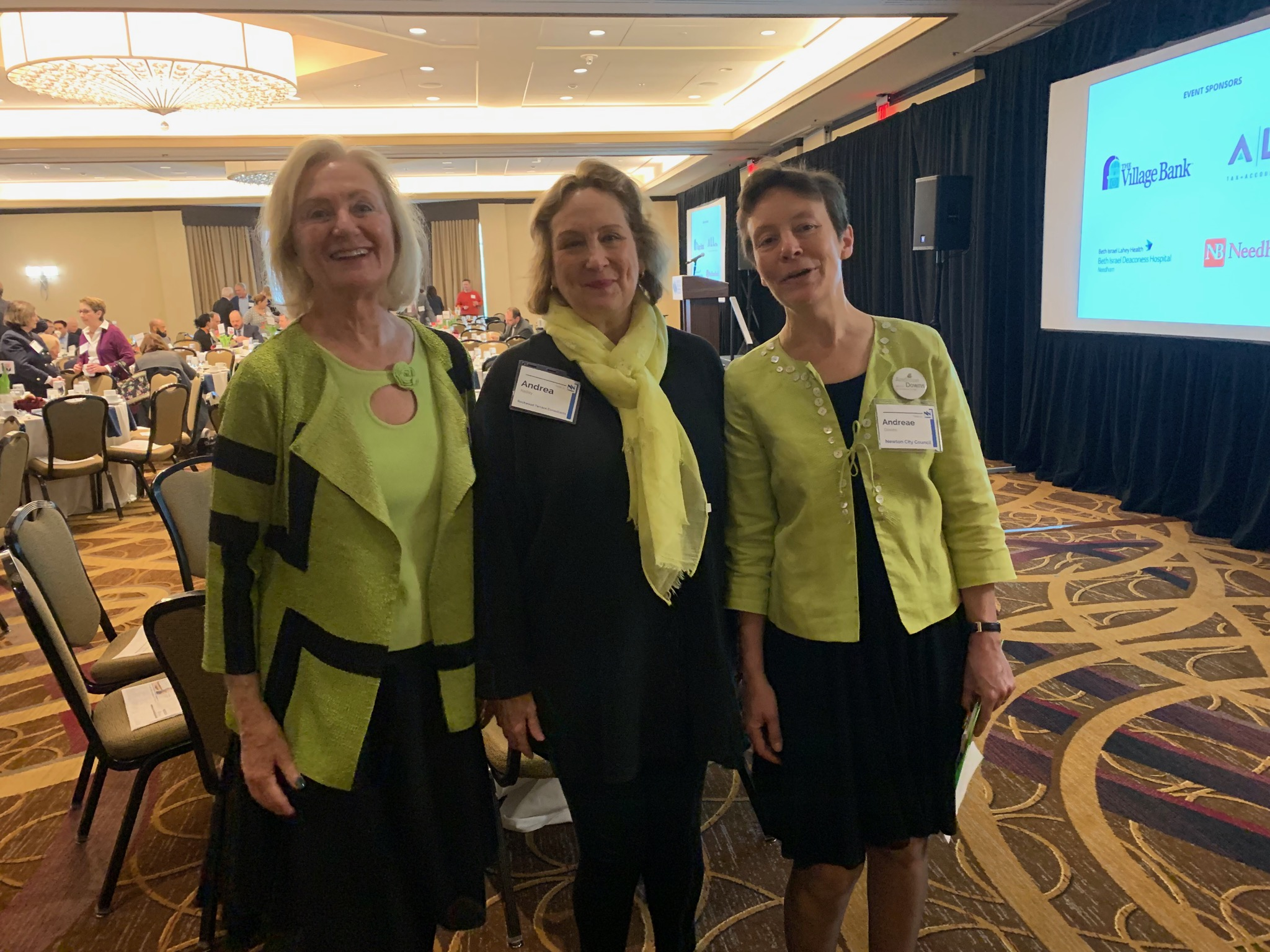 Councilors Danberg, Kelley and Downs all got the color memo for the NNCC breakfast!