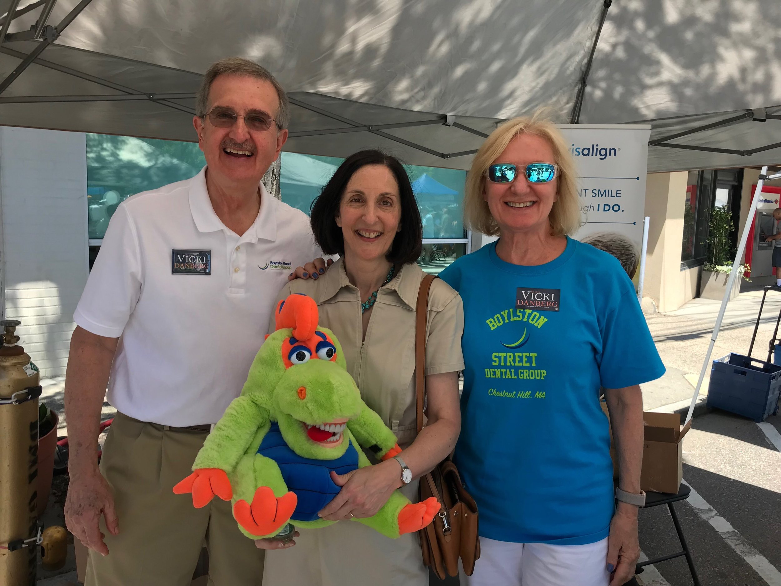 Newton Highlands Village Day with our great Mayor, Ruthanne Fuller.