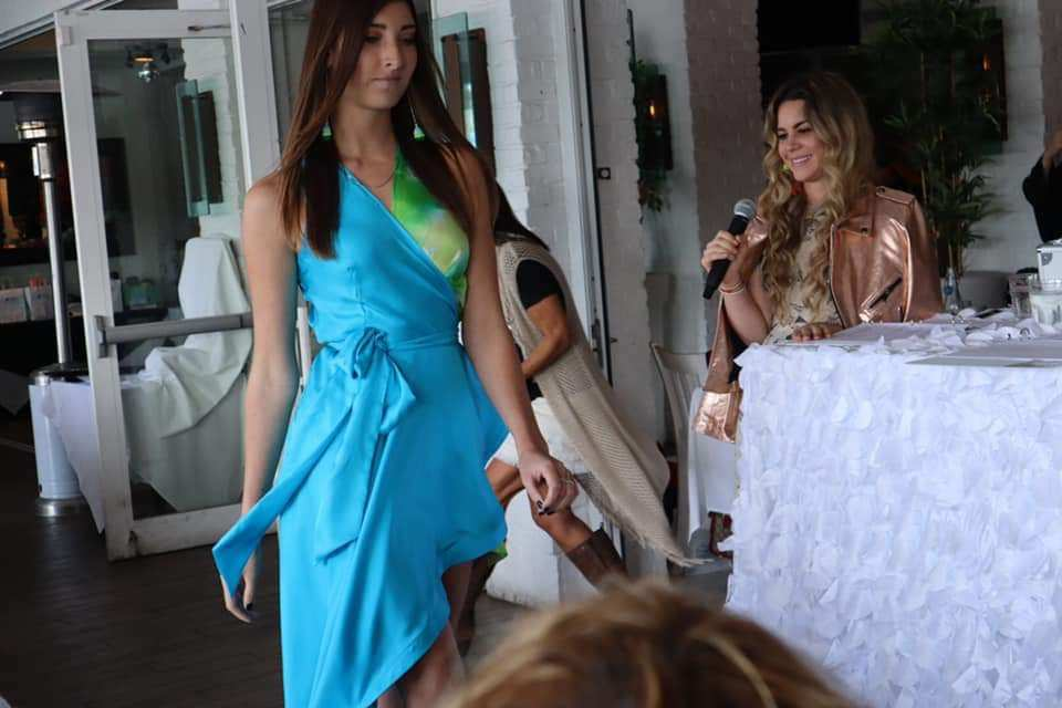 Me hosting and my beautiful model Chrissie!