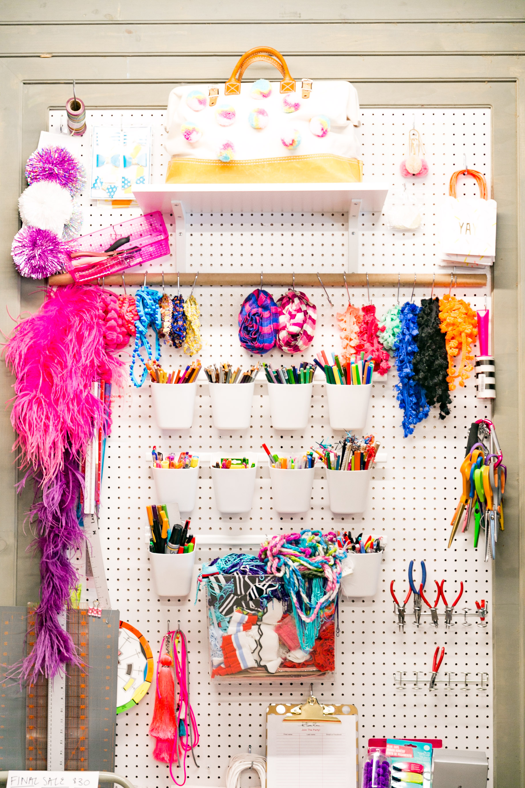 Our beloved peg board | Photo By Angie Myers