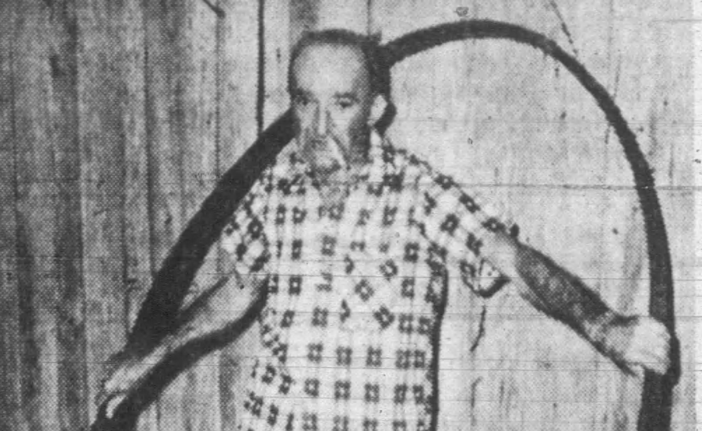 Barnie Waldrop of carthage was one of the more persistent treasure hunters. click photo for more.