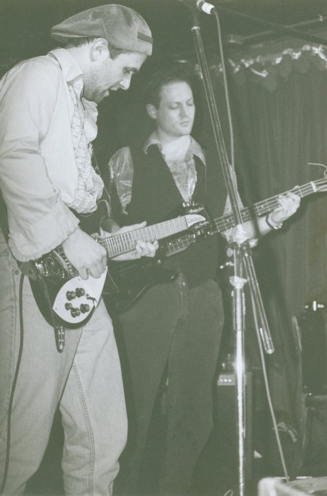 (  Picture 2  )  Performing at CBGBs with my friend Kevin, before the illustrious punk club turned into a John Varvatos boutique.